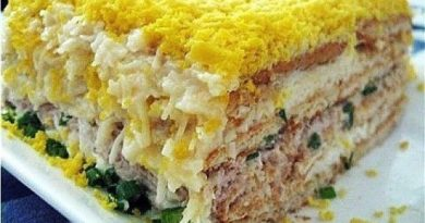 Рыбный торт-салат.