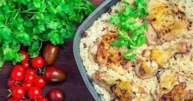 Курица с рисом.
