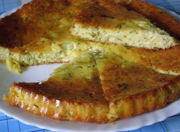 Вкуснейший сырный пирог.