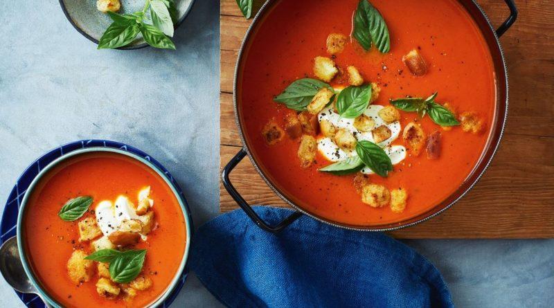 Томатный крем-суп со сливками