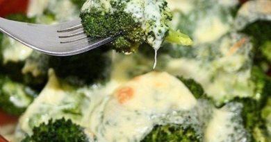 Брокколи с сыром в духовке.