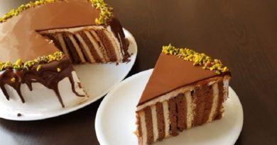 Торт из галетного печенья.