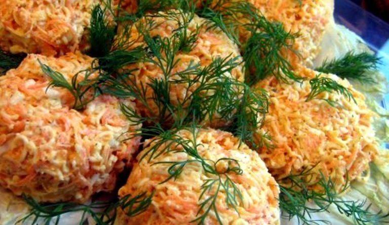 Салат «Морковные гнездышки».
