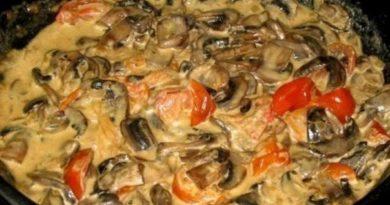 Сливочно-грибной соус.