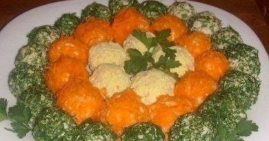 Оригинальный салат в шариках.