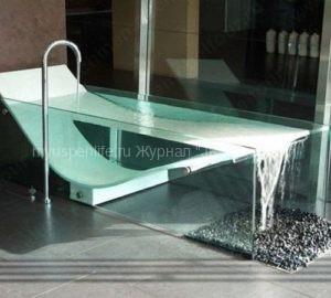 Стеклянная ванна: фото-идеи.