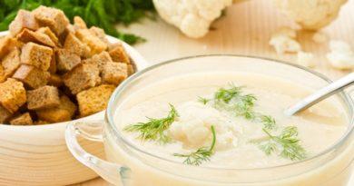 Суп-пюре из цветной капусты.