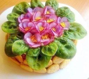 Салаты-цветы.