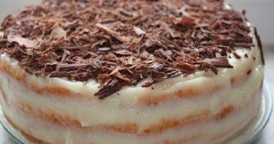 Быстрый творожный торт на сковороде.