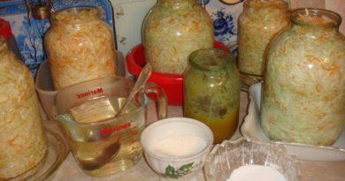 Засолка капусты в 3-литровых банках. 7 рецептов.