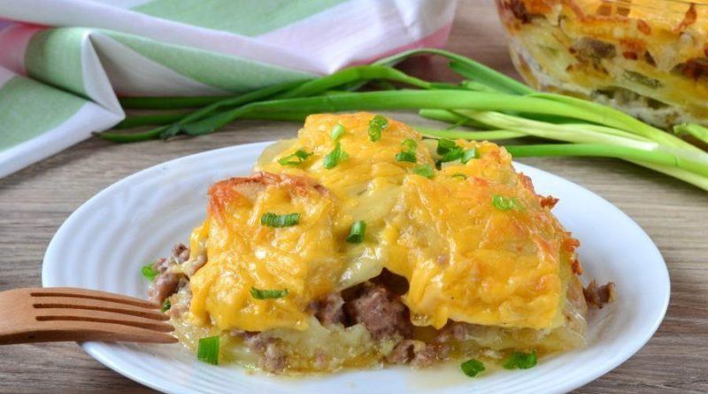 Картофельный гратен с мясом.