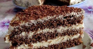 Шоколадный торт на кефире.