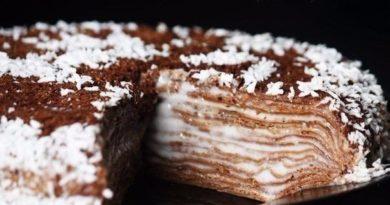 Невероятно простой и вкусный блинный тортик!