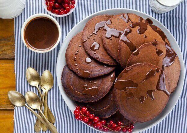 Шоколадные оладьи.