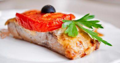 """Рыба """"по-французски"""" на ужин."""