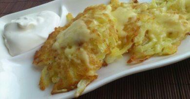 Драники с сыром.