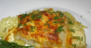 Картофельная запеканка с рыбой.