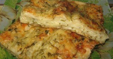 Пирог сырный из лаваша.