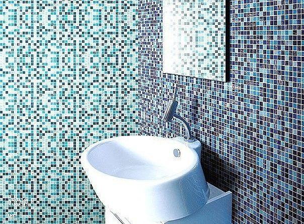 Облицовка стен стеклянной мозаикой