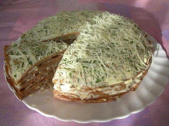 Нежный печеночный торт