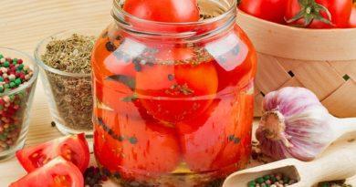 Как готовить помидоры дольками на зиму.