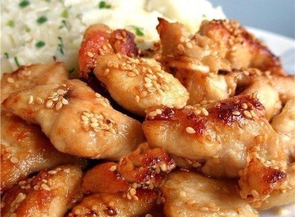 Вкусные куриные грудки по-восточному.