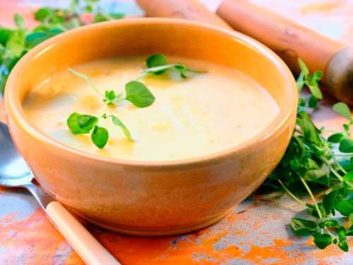 Куриный крем-суп.