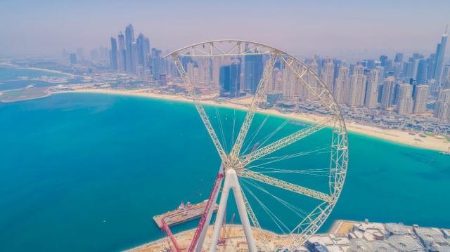 Дубай ставит очередной рекорд. Такого колеса еще не было!