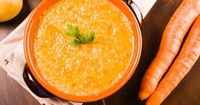Густой морковный суп с острым маслом