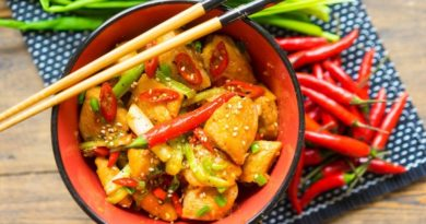 Курица гунбао (kung pao) — для самых крепких.