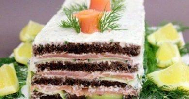 Торт из лосося.