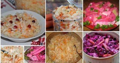 Подборка рецептов квашеной капусты