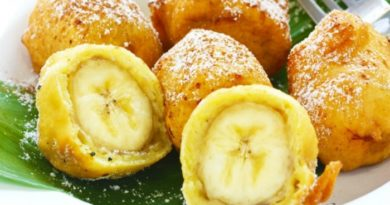 Бананы в кляре. Нежный и оригинальный десерт.