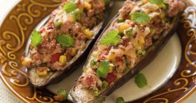 Баклажаны фаршированные: рецепт вкусного блюда