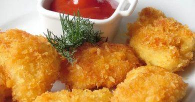 Наггетсы из курицы в двойной панировке с чесноком