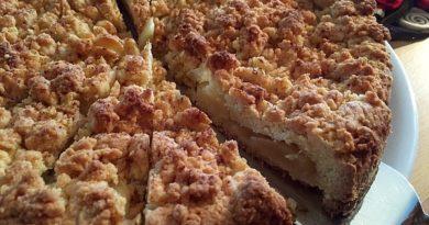 Яблочный пирог с корицей на песочном тесте