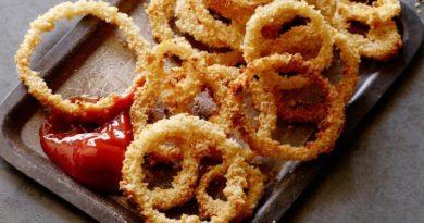 Печеные луковые кольца
