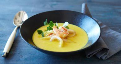 Суп с карри и морепродуктами