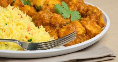 Куриное филе карри с рисом