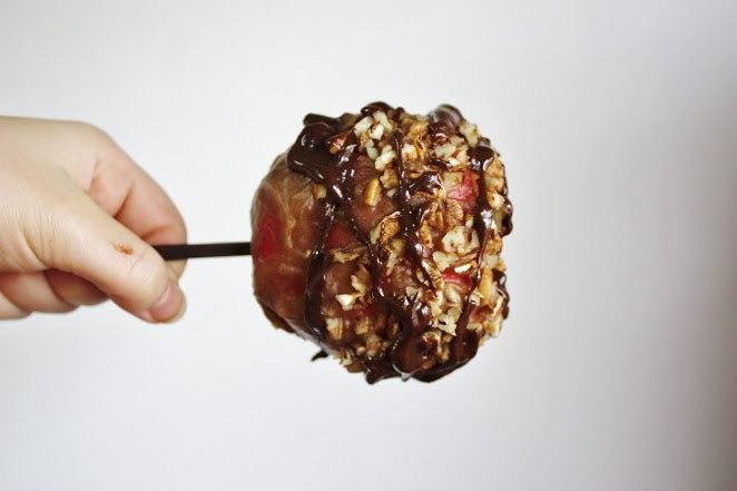 Яблоки в сладком «кляре»