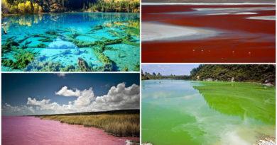 5 озер с водой удивительных оттенков