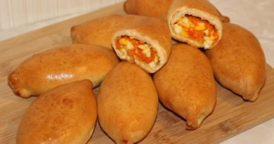 Пирожки с яйцами и морковью