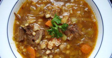Суп из перловки с мясом без картофеля