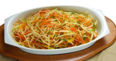Заправка для салатов из капусты