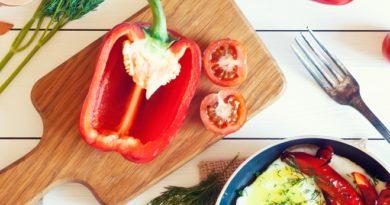 Рецепт перца, фаршированного омлетом