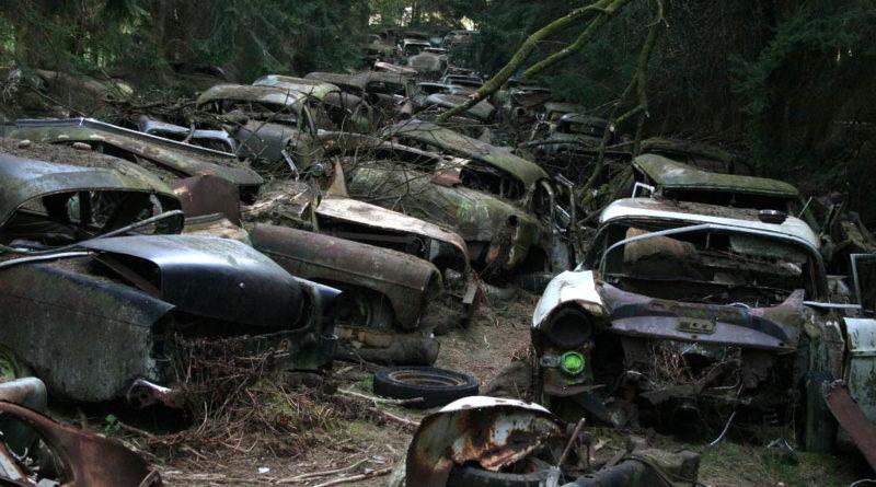Кладбище автомобилей в Бельгии