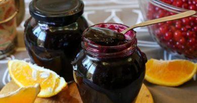 Варенье из черной смородины и апельсинов без сахара