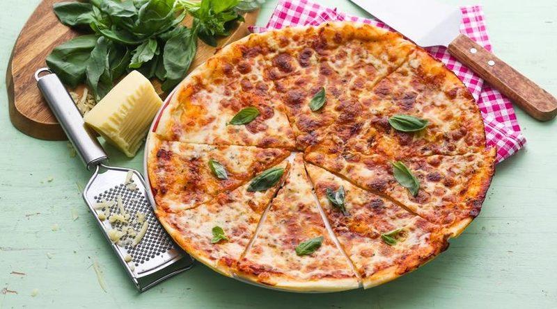 ПП пицца на кефире с курицей
