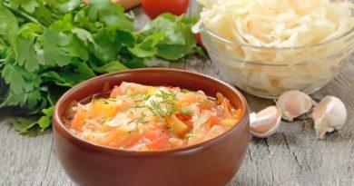Рецепт домашнего супа с капустой