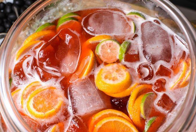 Цитрусовый пунш с шампанским: вкусный рецепт